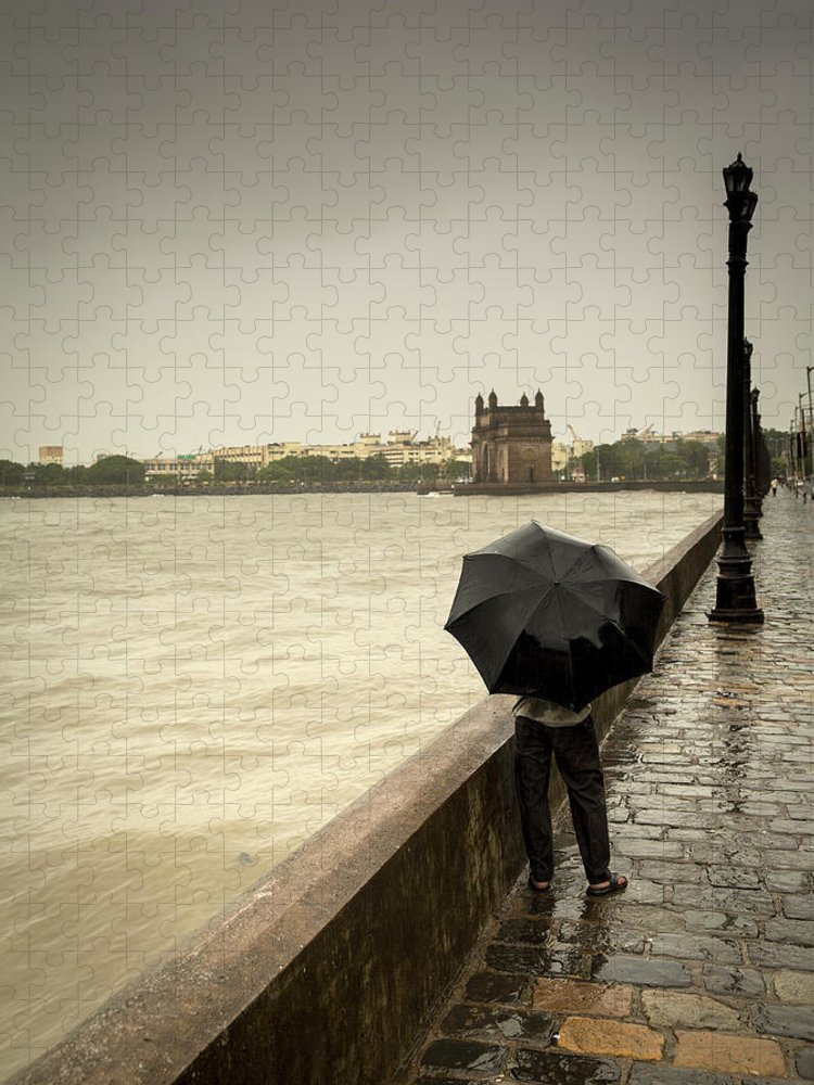 People Puzzle featuring the photograph Monsoon In Mumbai by Frank Bunnik