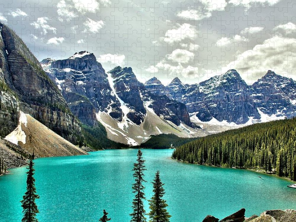 Tranquility Puzzle featuring the photograph Moraine Lake, Banff National Park by Spierry Images
