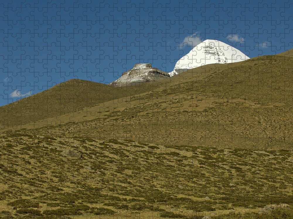 Chinese Culture Puzzle featuring the photograph Mount Kailash by Tanukiphoto