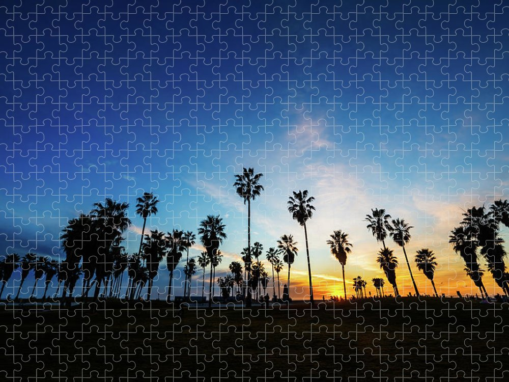 Shadow Puzzle featuring the photograph Muscle Beach At Dusk by Extreme-photographer