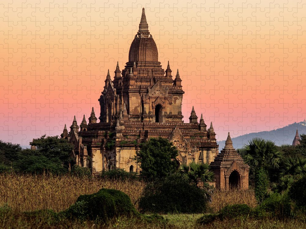 Non-urban Scene Puzzle featuring the photograph Myanmar, Bagan, Ancient Temple At by Martin Puddy
