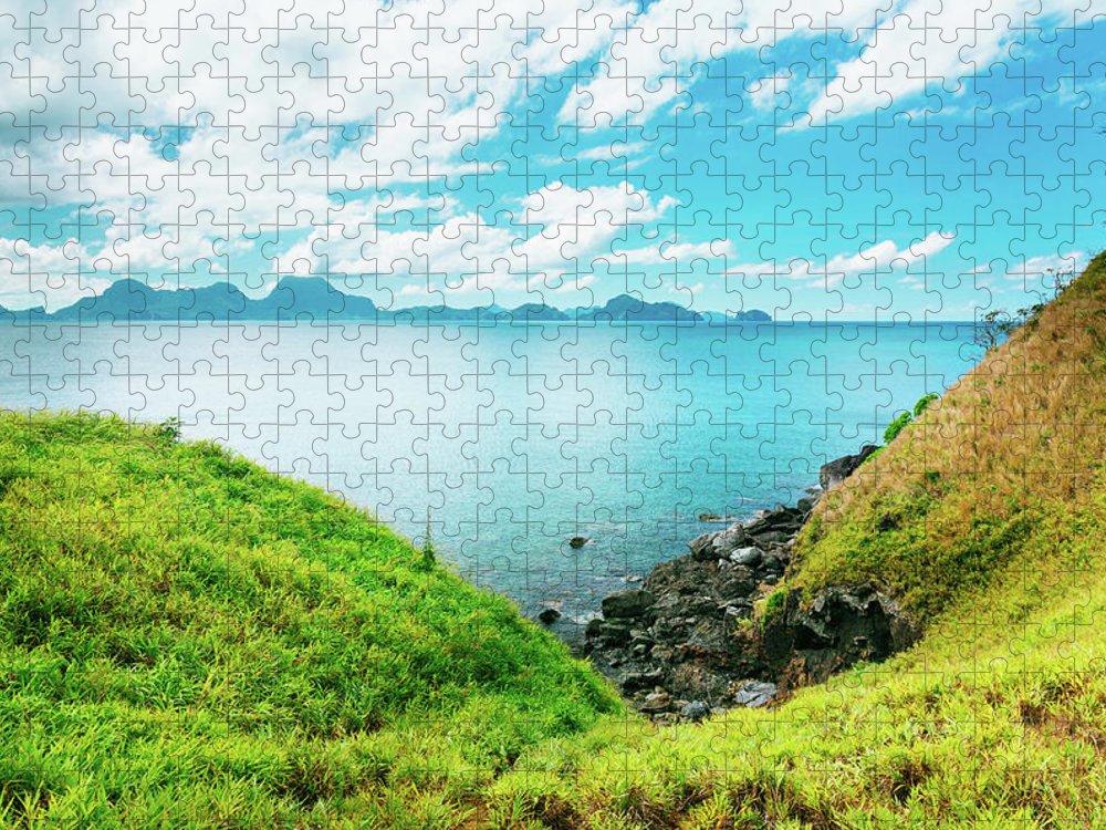 Scenics Puzzle featuring the photograph Nacpan Beach Hills by Danilovi
