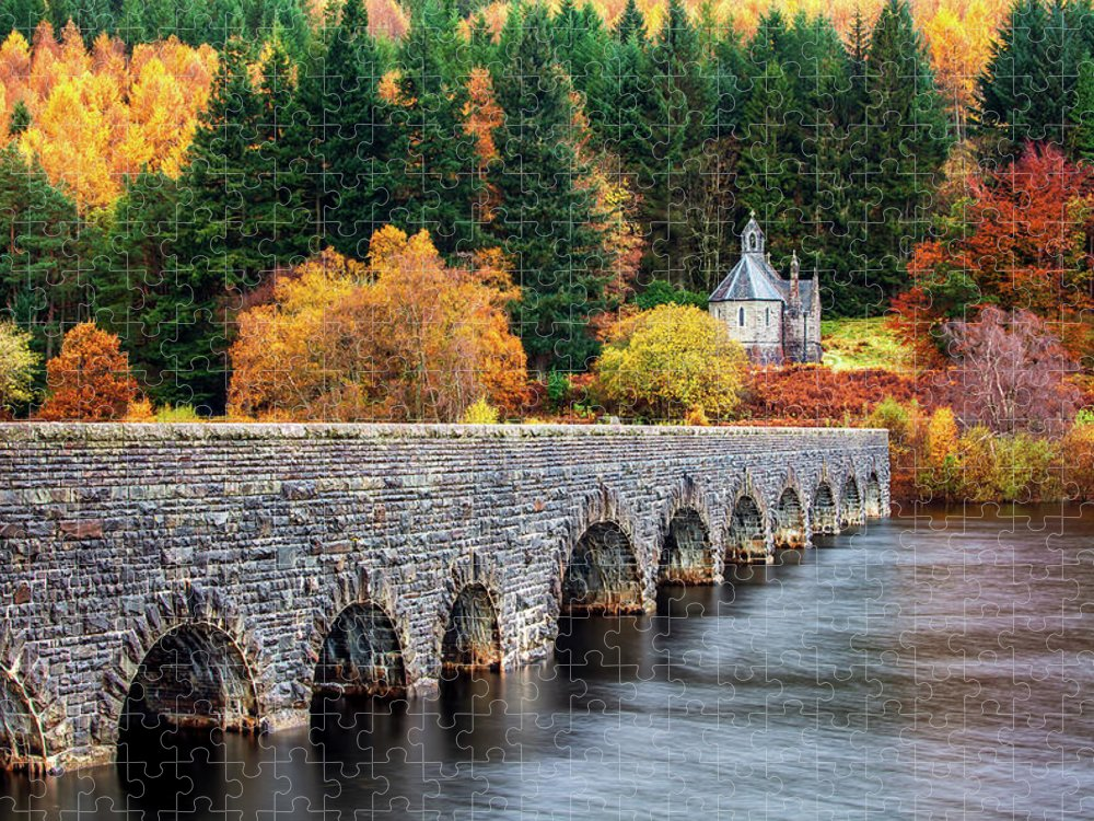 Arch Puzzle featuring the photograph Nantgwyllt Chapel by Joe Daniel Price
