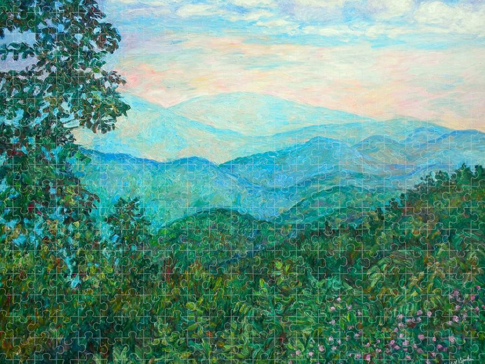 Landscape Puzzle featuring the painting Near Purgatory by Kendall Kessler