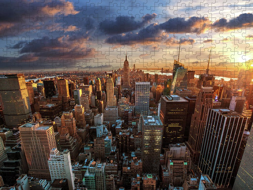 Tranquility Puzzle featuring the photograph New York City Skyline by Dominic Kamp Photography