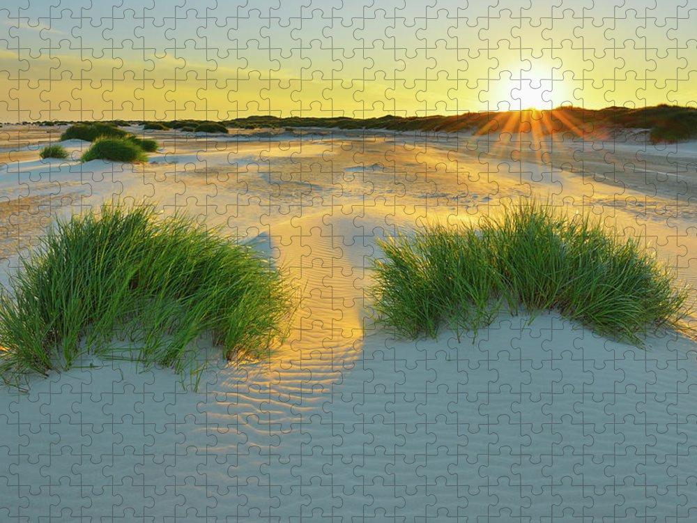 Scenics Puzzle featuring the photograph North Sea Sandbank Kniepsand by Raimund Linke