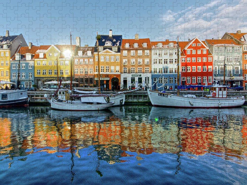 Copenhagen Puzzle featuring the photograph Nyhavn, Copenhagen, Denmark by Kateryna Negoda
