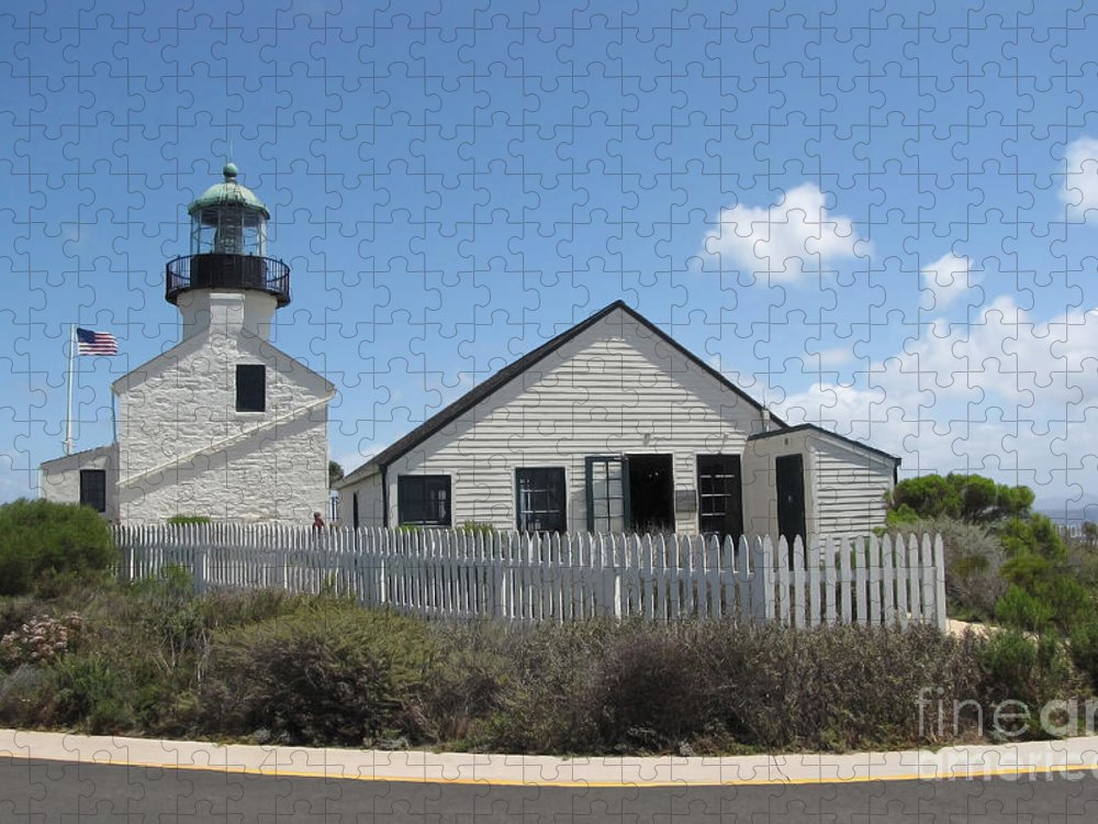 Lighthouse Puzzle featuring the photograph Old Point Loma Lighthouse 1 by Cedric Hampton