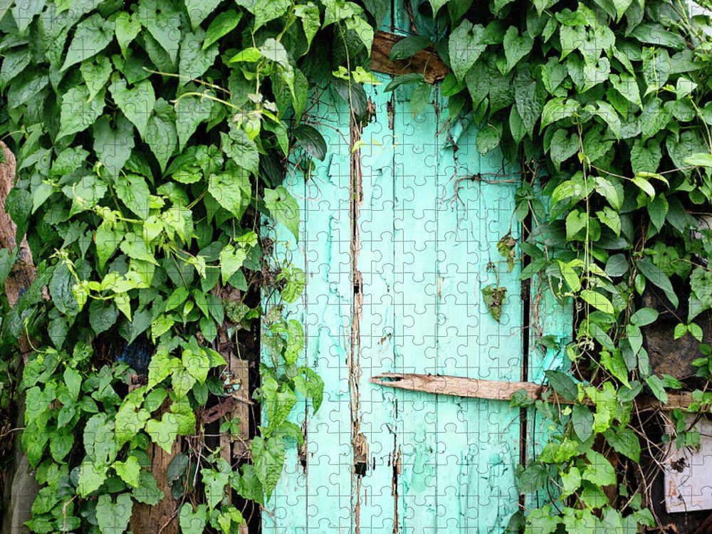 Outdoors Puzzle featuring the photograph Old Wooden Door by Real444