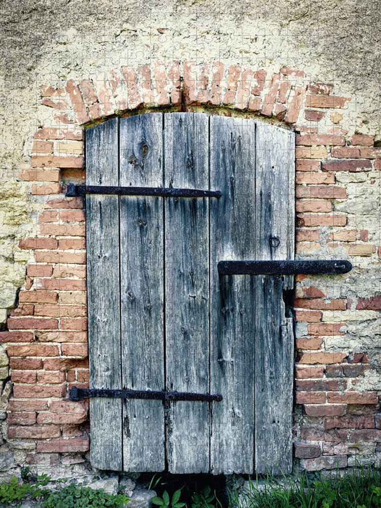 Arch Puzzle featuring the photograph Old Wooden Door by Styf22