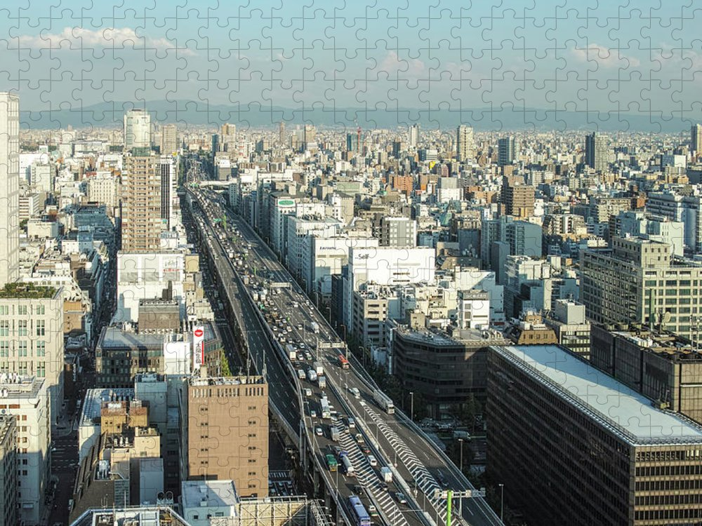 Osaka Prefecture Puzzle featuring the photograph Osaka Cityscape by I Love Photo And Apple.