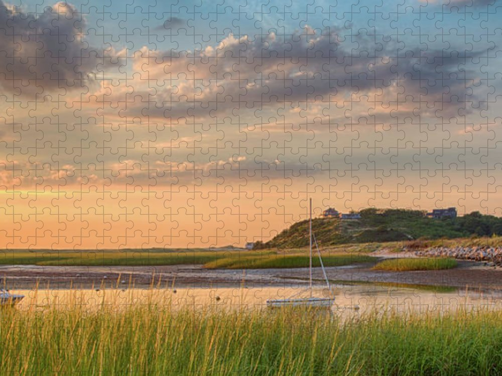 Scenics Puzzle featuring the photograph Pamet Harbor In Afternoon by Betty Wiley