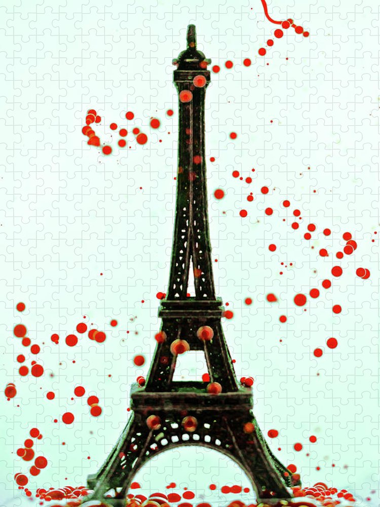 Replica Eiffel Tower Puzzle featuring the photograph Paris by Dina Belenko Photography