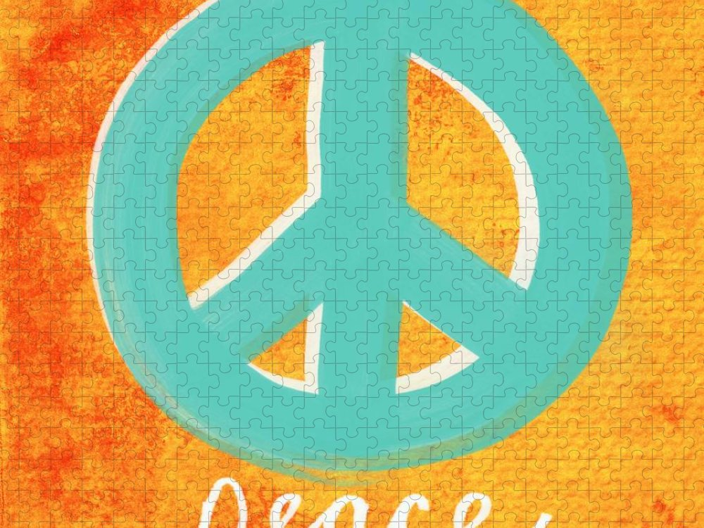 Peace Puzzle featuring the painting Peace by Linda Woods