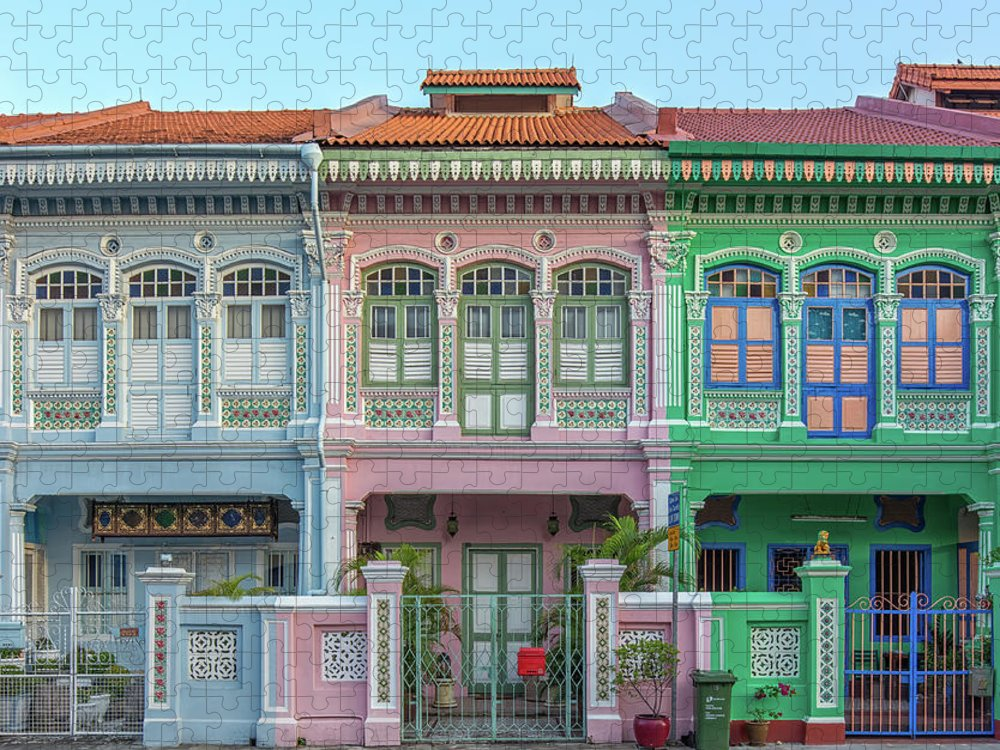 Tranquility Puzzle featuring the photograph Peranakan Architecture by Edward Tian