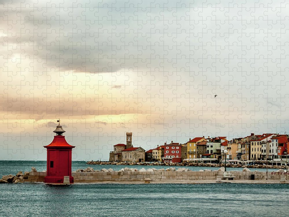 Tranquility Puzzle featuring the photograph Piran Slovenia by Digital Image