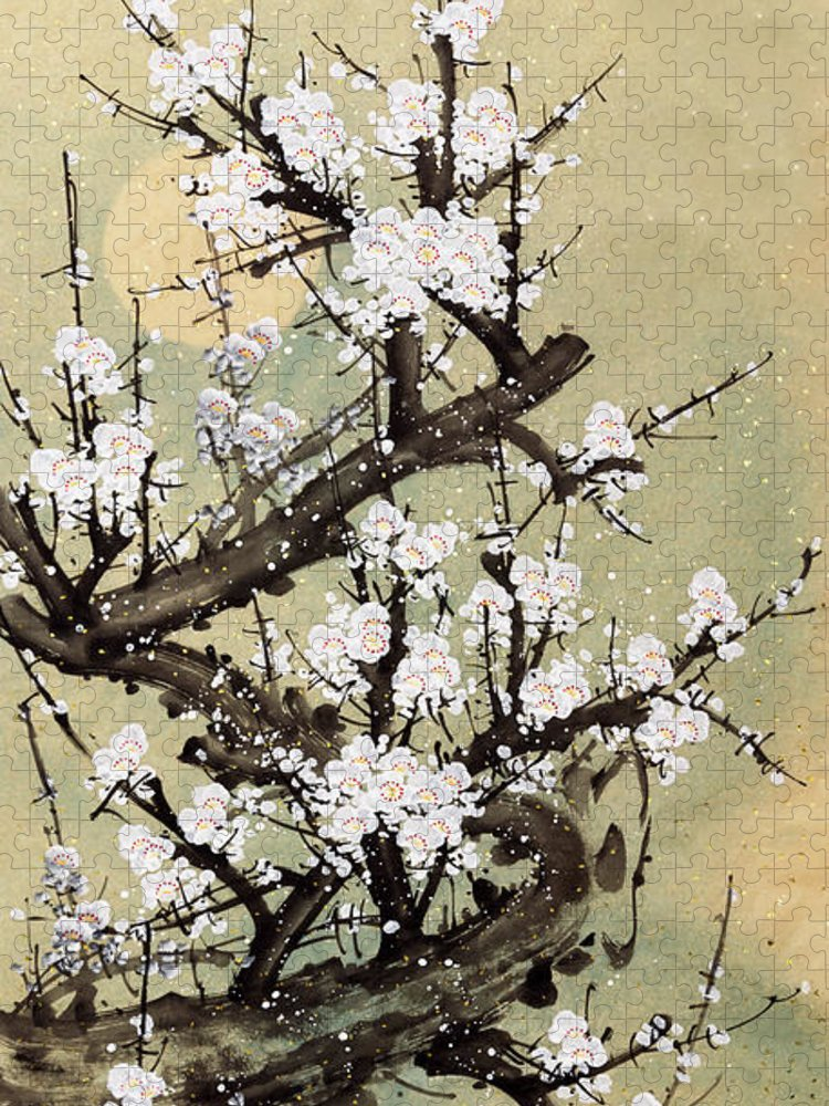 Chinese Culture Puzzle featuring the digital art Plum Blossom by Vii-photo