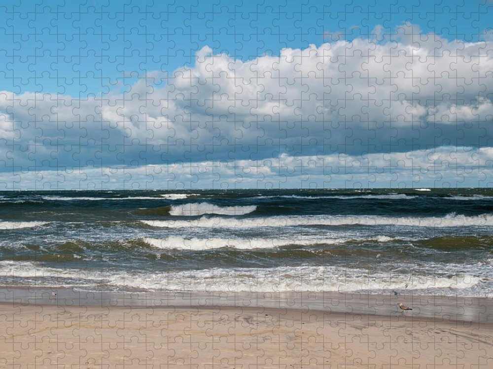 Water's Edge Puzzle featuring the photograph Poland, View Of Baltic Sea In Autumn At by Westend61