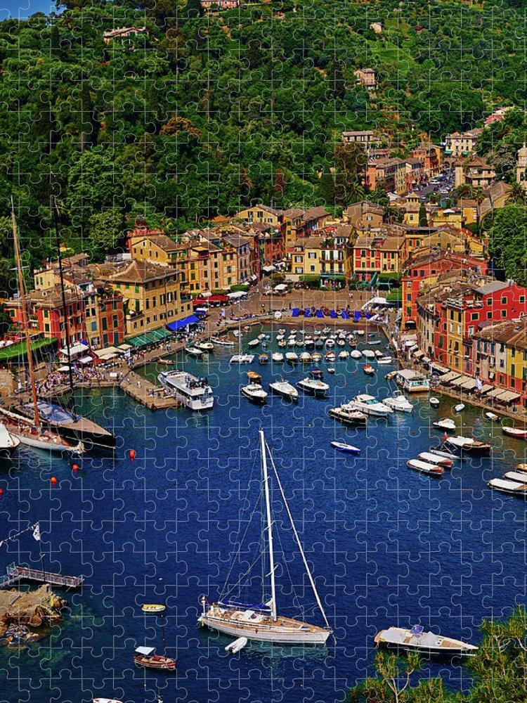 Treetop Puzzle featuring the photograph Portofino by Roman Makhmutov