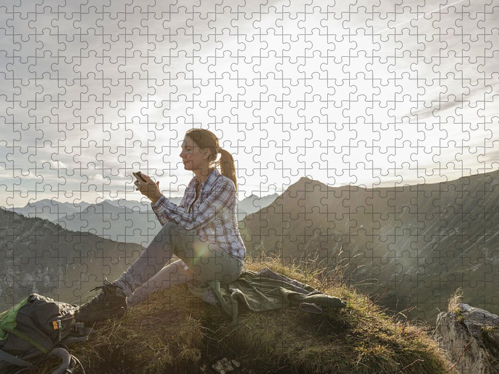 Mid Adult Women Puzzle featuring the photograph Portrait Of A Mid Adult Woman by Alan Graf