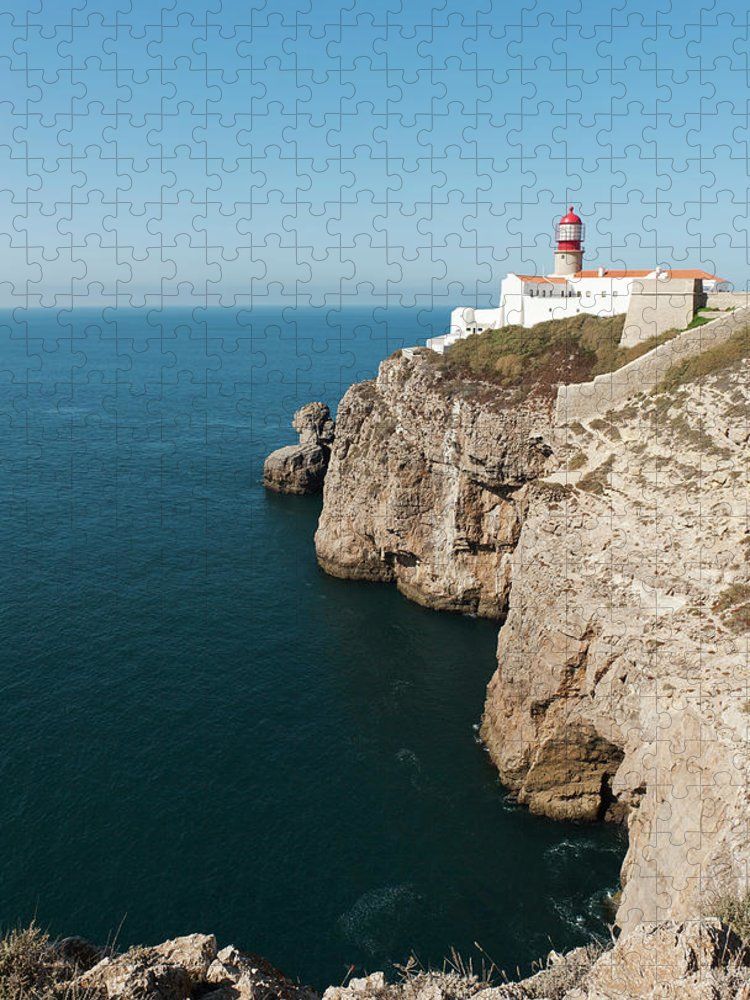 Algarve Puzzle featuring the photograph Portugal, Algarve, Sagres, Lighthouse by Westend61