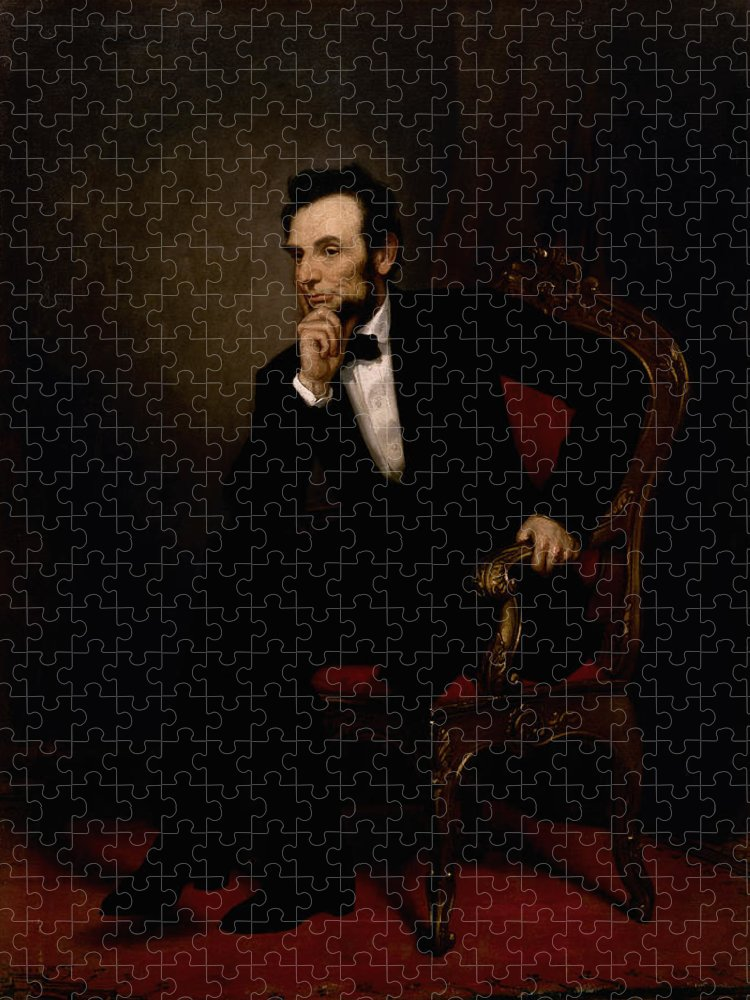 Abraham Lincoln Puzzle featuring the painting President Lincoln by War Is Hell Store