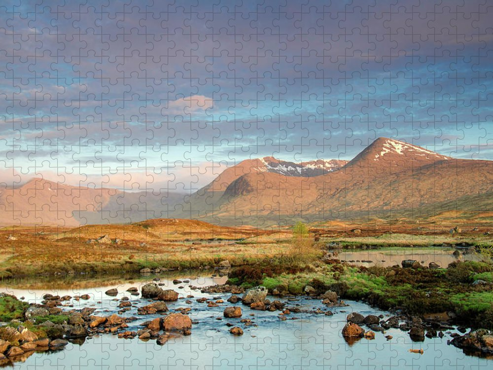 Scenics Puzzle featuring the photograph Rannoch Moor by Mike Dow Photography