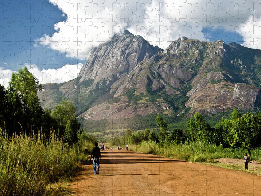 Scenics Puzzle featuring the photograph Road To Mount Mulanje by Colin Carmichael