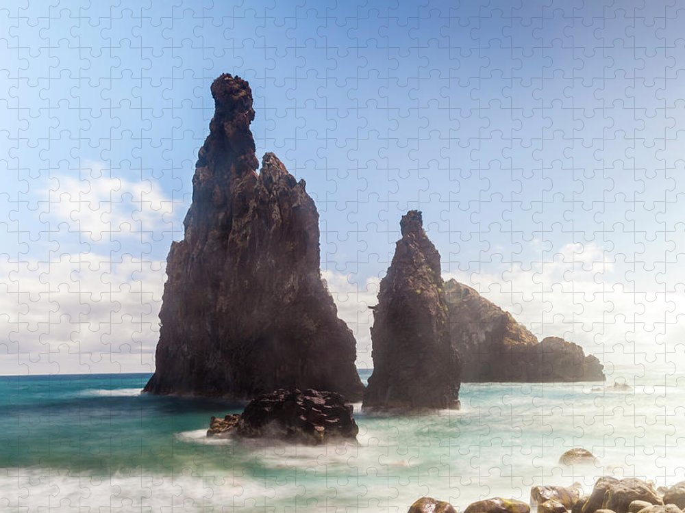 Tranquility Puzzle featuring the photograph Rock, Ribeira Da Janela, Madeira by Peter Adams