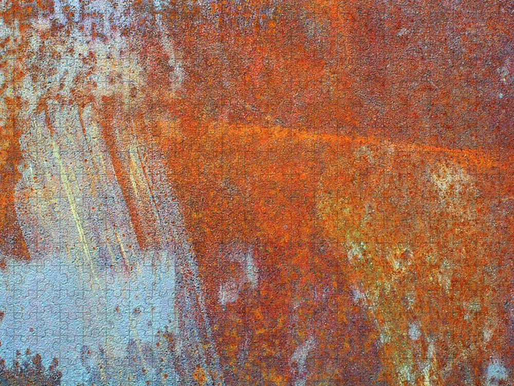 Aging Process Puzzle featuring the photograph Rust On A Metal Surface by Rob Atkins
