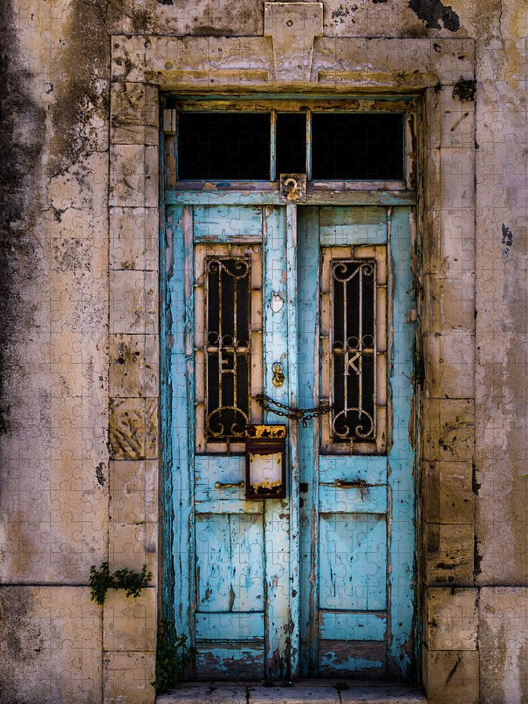 Looking Through An Object Puzzle featuring the photograph Rustic Abandoned Door by Robertino1989