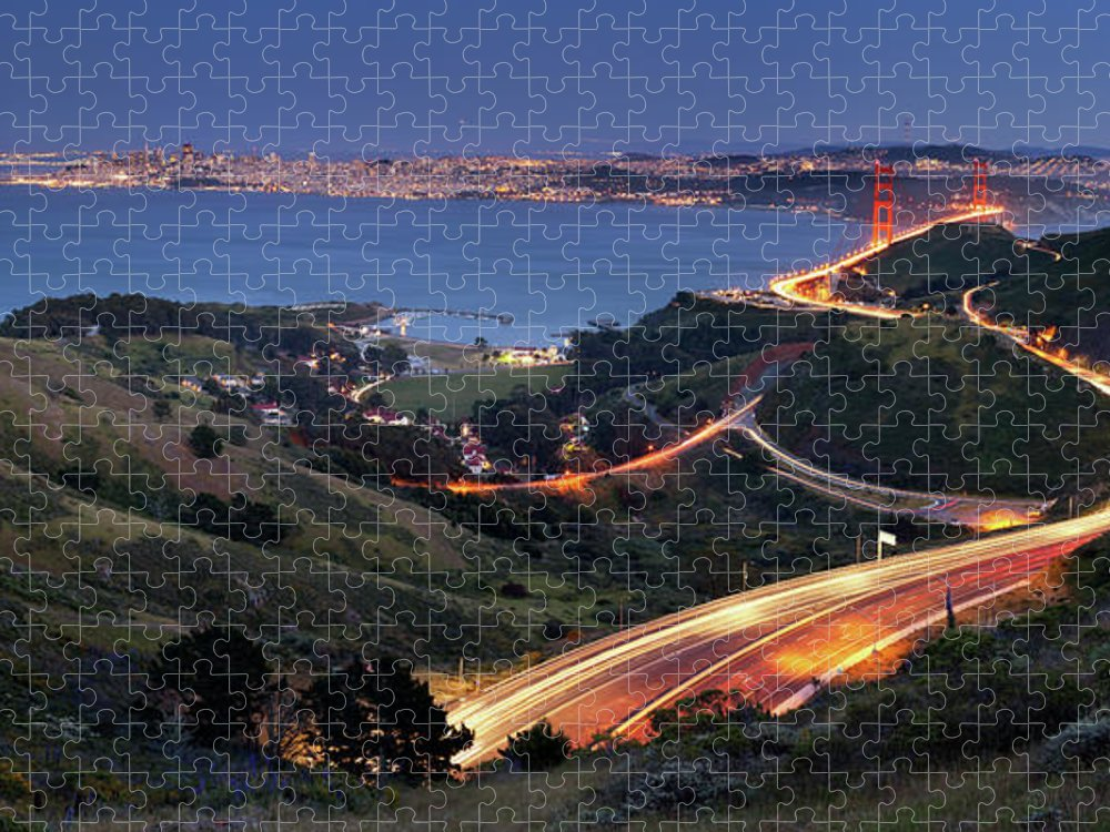 Scenics Puzzle featuring the photograph S Marks The Spot by Vicki Mar Photography