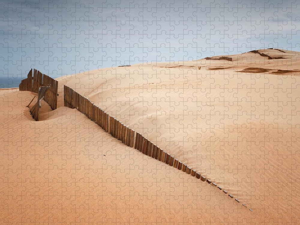Sand Dune Puzzle featuring the photograph Sand Dunes At Punta Paloma by Ben Welsh / Design Pics