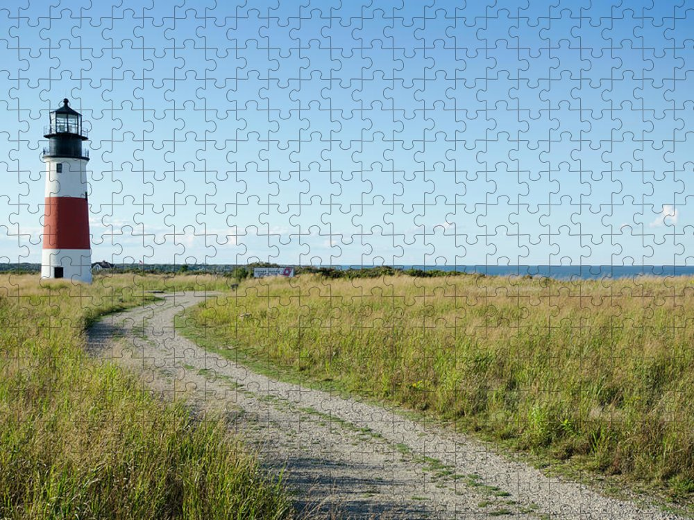 Scenics Puzzle featuring the photograph Sankaty Head Lighthouse, Nantucket by Nine Ok