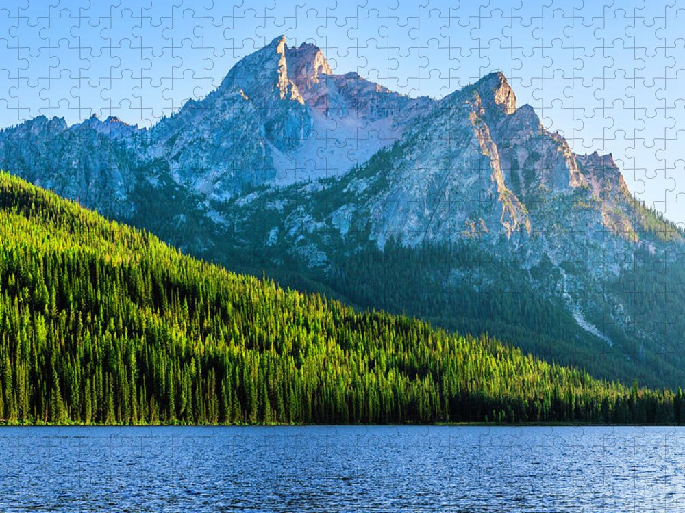 Scenics Puzzle featuring the photograph Sawtooth Mountains And Stanley Lake by Dszc