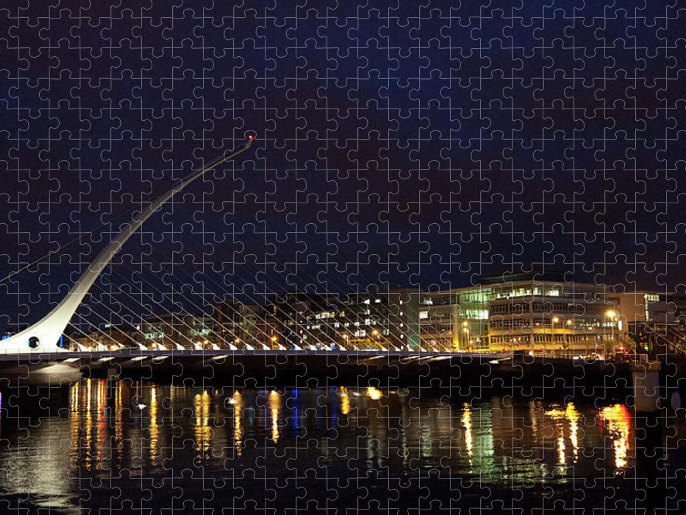 Dublin Puzzle featuring the photograph Sean Ocasey Bridge, Dublin by Leverstock