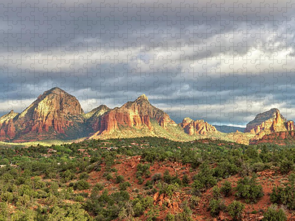 Scenics Puzzle featuring the photograph Sedona, Arizona And Red Rocks Panorama by Picturelake