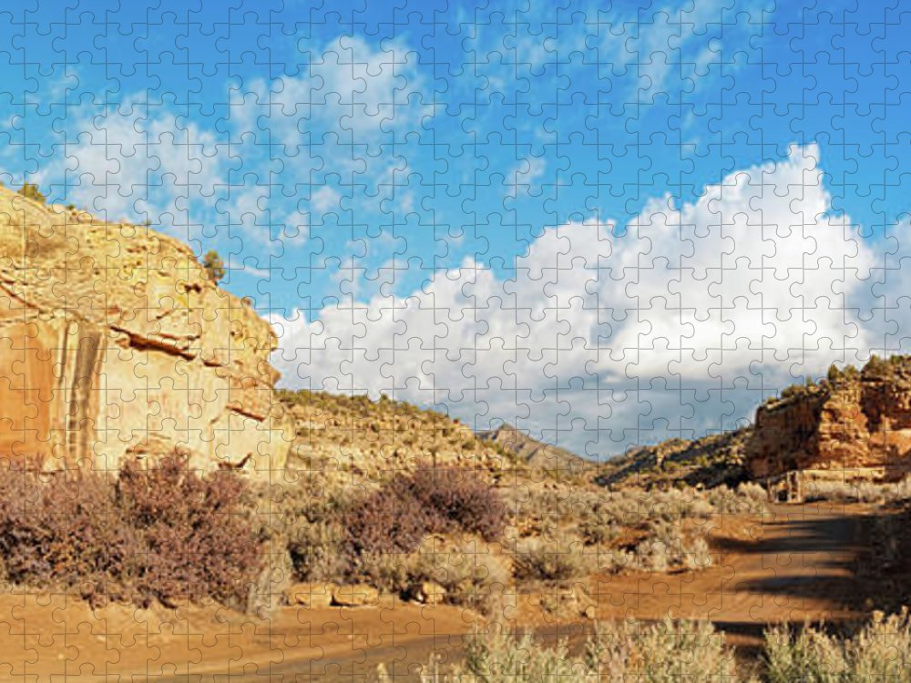Scenics Puzzle featuring the photograph Sego Canyon, Thompson Springs, Grand by Fotomonkee