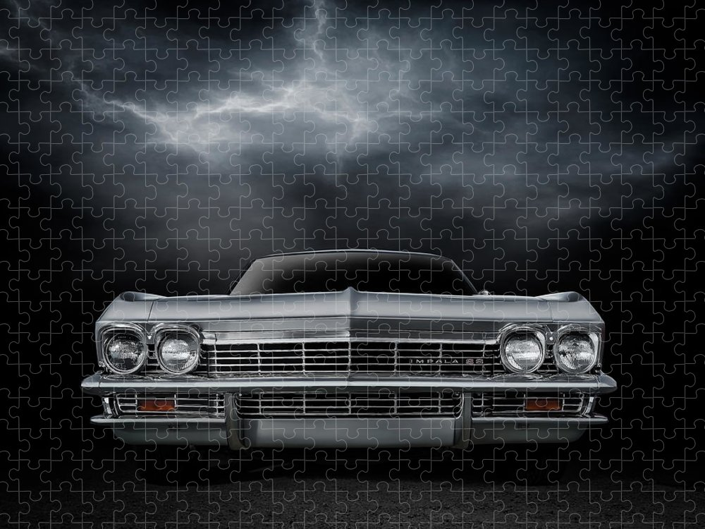 Car Puzzle featuring the digital art Silver Sixty Five by Douglas Pittman
