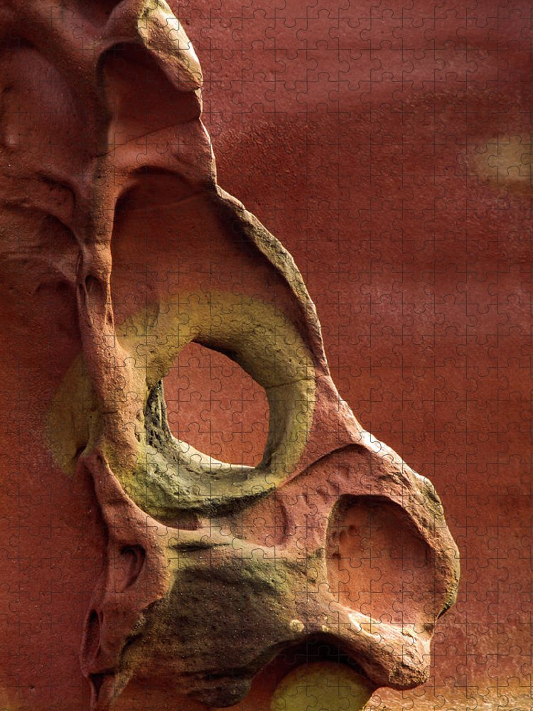 Geology Puzzle featuring the photograph Sinister Forms by By Mediotuerto