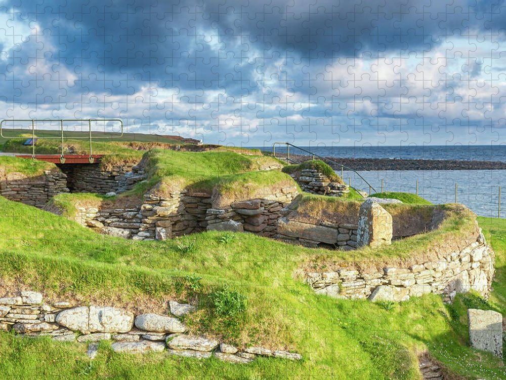 Prehistoric Era Puzzle featuring the photograph Skara Brae, Orkney Islands by Lucentius