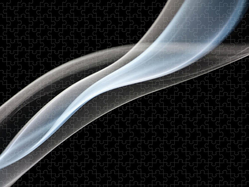 Curve Puzzle featuring the photograph Smoke, Creative Abstract Vitality by Tttuna