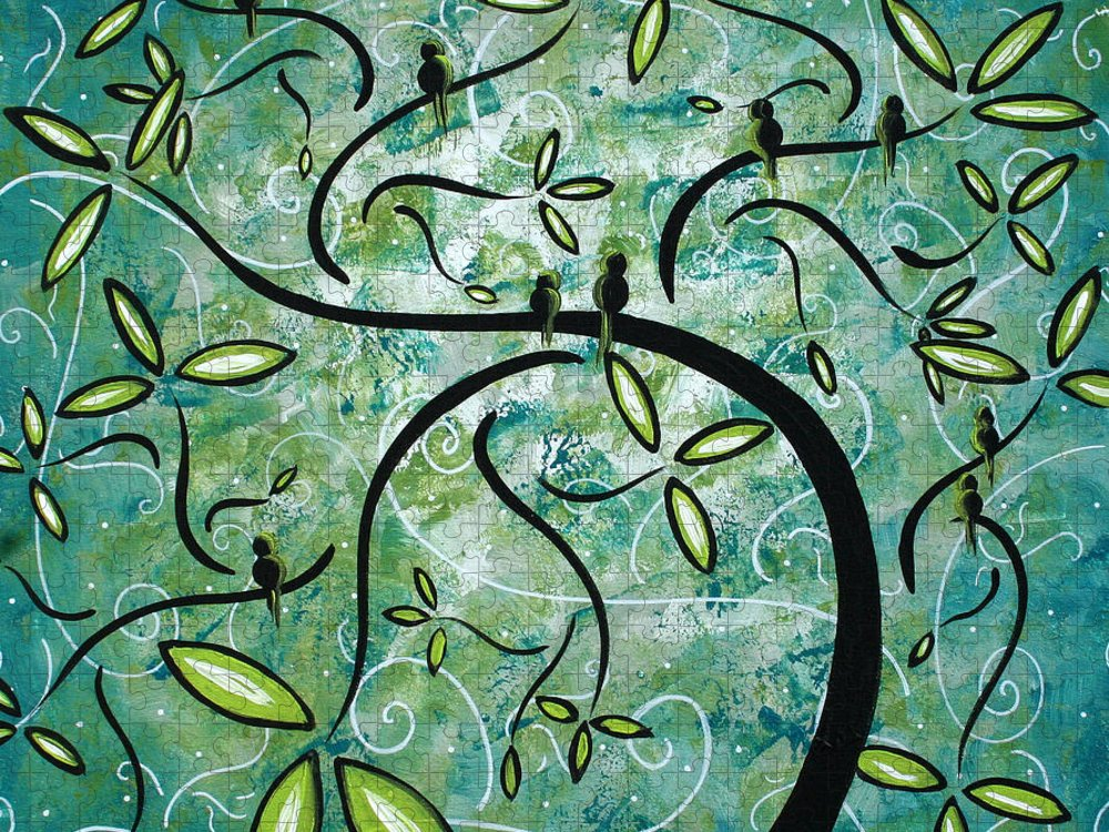 Wall Puzzle featuring the painting Spring Shine by MADART by Megan Duncanson