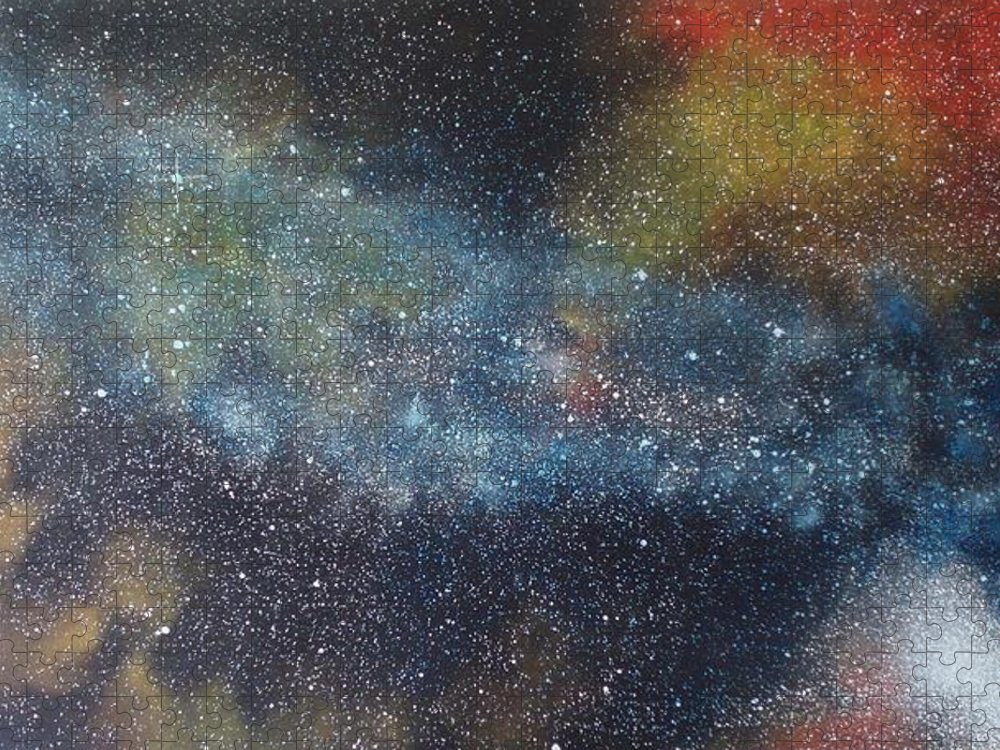 Oil Painting On Canvas Puzzle featuring the painting Stargasm by Sean Connolly