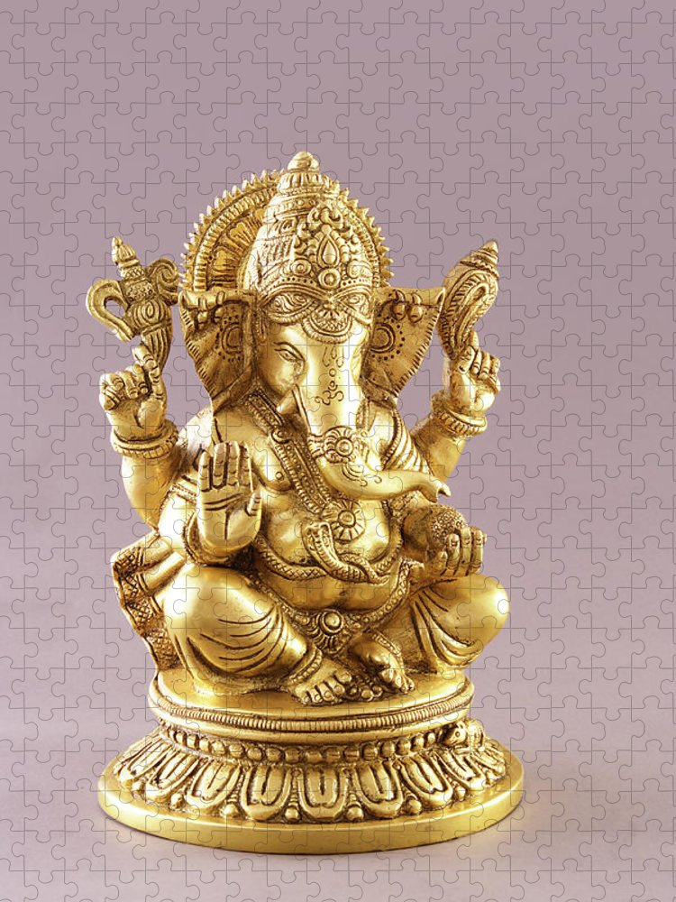 Spirituality Puzzle featuring the photograph Statue Of Lord Ganesh by Visage