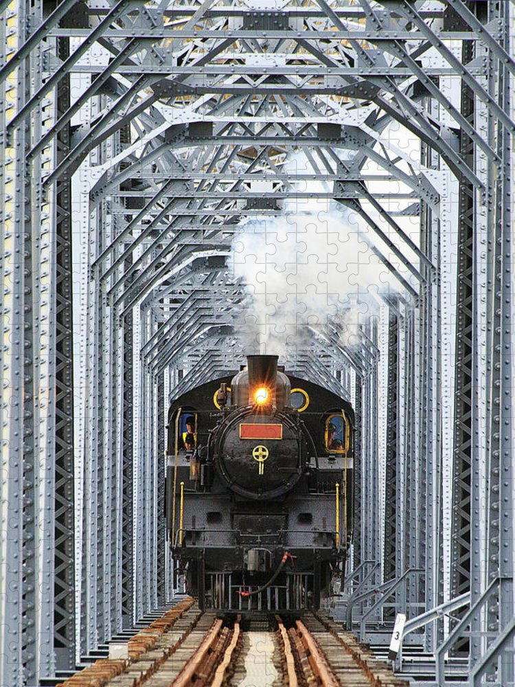 Air Pollution Puzzle featuring the photograph Steam Train by Peter Hong
