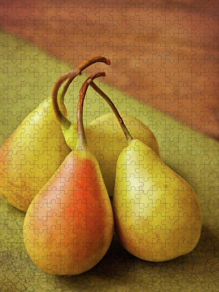 Wood Puzzle featuring the photograph Still Life Of Pears by Carol Yepes