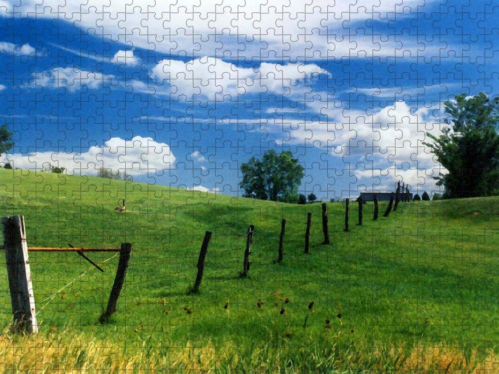 Summer Landscape Puzzle featuring the photograph Summer Landscape by Steve Karol