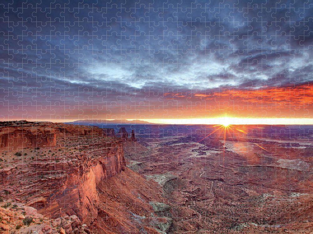Tranquility Puzzle featuring the photograph Sunrise At Canyonlands by Hansrico Photography