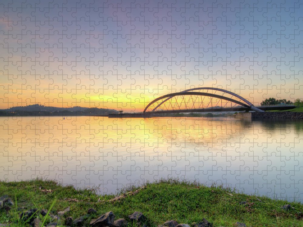 Tranquility Puzzle featuring the photograph Sunrise by Mohamad Zaidi Photography